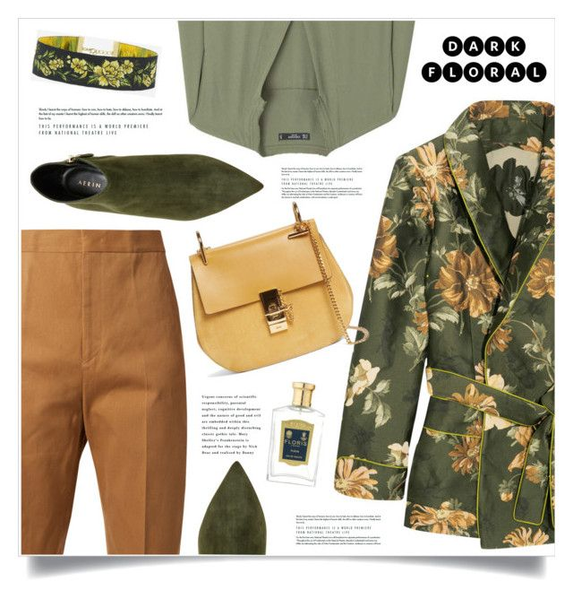 In Bloom: Dark Florals by marina-volaric on Polyvore featuring polyvore, fashion, style, MANGO, F.R.S For Restless Sleepers, Jil Sander, AERIN, Chloé, Floris, clothing and darkflowers