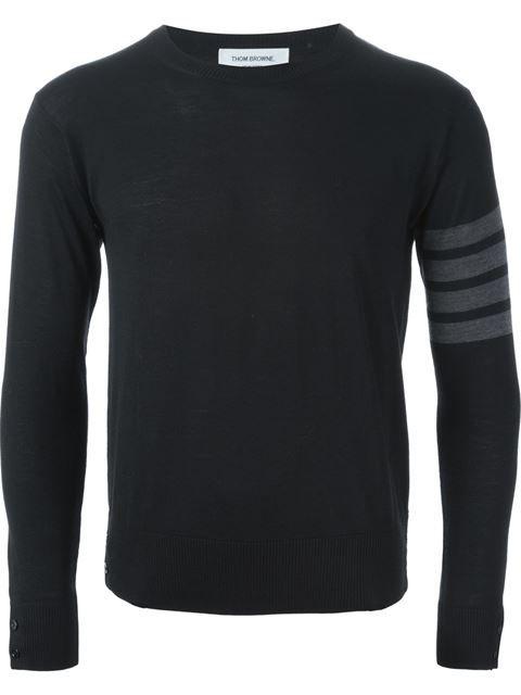 Thom Browne Striped Arm Sweater - Chapeau Man - Farfetch.com