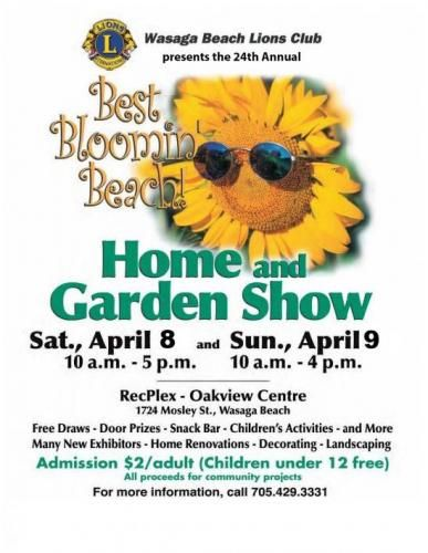 Spring is in the air and that means that the 24th Annual Wasaga Beach Lion's Club Home and Garden Show is almost here! Stop by our Royal LePage Trinity Realty real estate booth! #WasagaBeach #HomeandGardenShow #HomeShow #GardenShow #springmarket #RoyalLePageTrinity