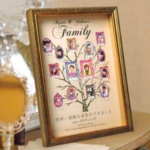 ファミリーツリー(家系図)もステキなギフト。ブライダルの準備は盛り沢山!ウェディングで欠かせない感謝の気持ちを込めた両親へのプレゼントアイデア例です♡