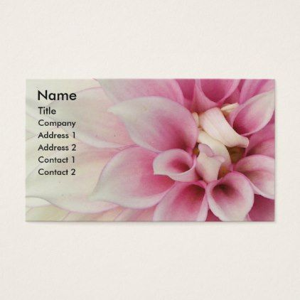 #White and Pink Petals Floral Business Card - #flower gifts floral flowers diy