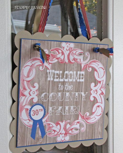 "Photo 1 of 49: 30th Birthday, County Fair Theme / Birthday ""Blue Ribbon Bash"" 