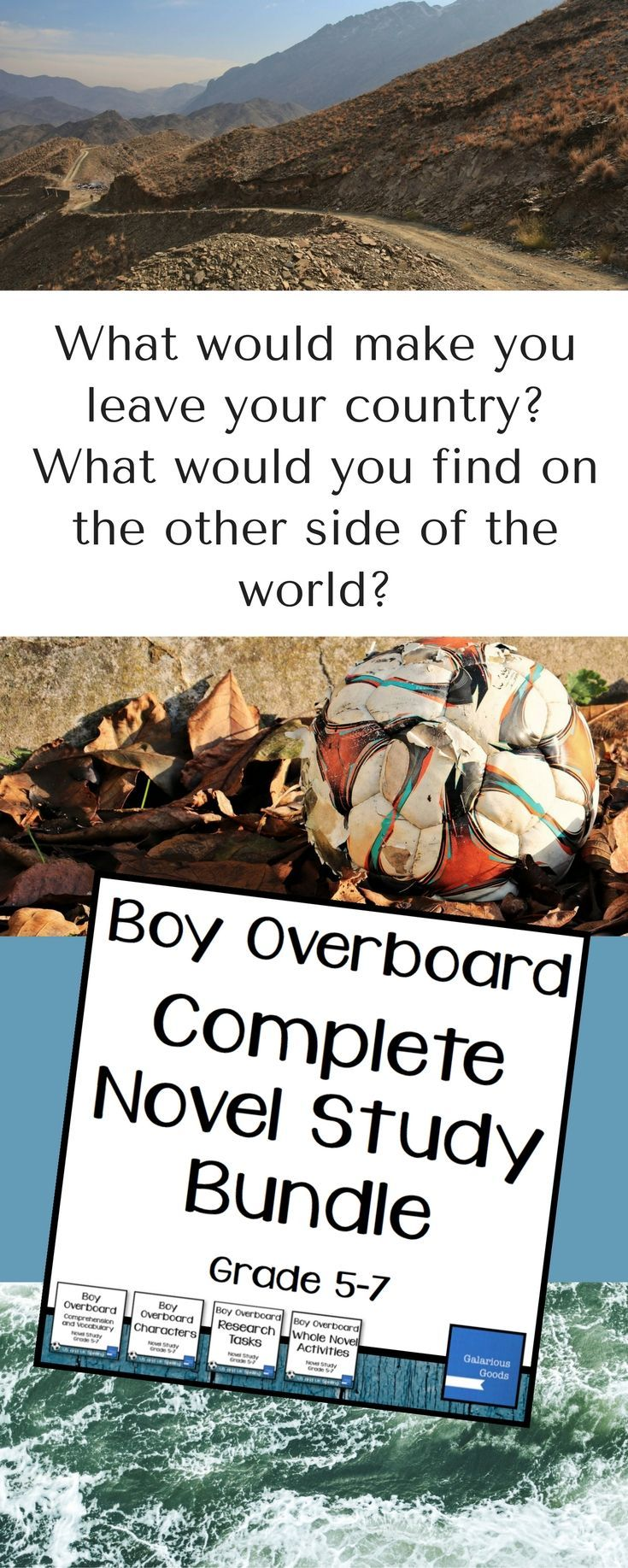 Get Comprehension, Vocabulary, Characters, Research and Whole Novel activities and tasks with this complete novel study for Boy Overboard by Morris Gleitzman