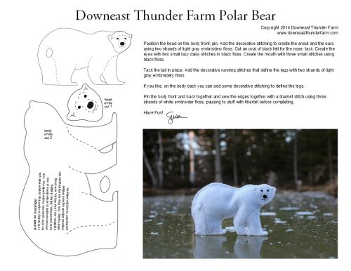 polar bear felt pattern