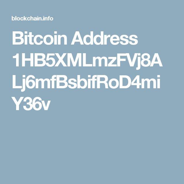 Bitcoin Address 1HB5XMLmzFVj8ALj6mfBsbifRoD4miY36v