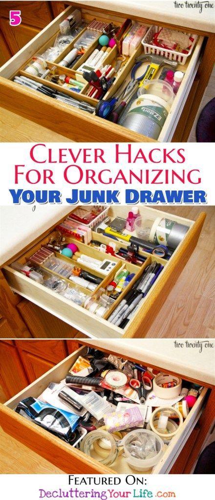 Junk Drawer Organization Diy Ideas Genius Organizing Ideas For All