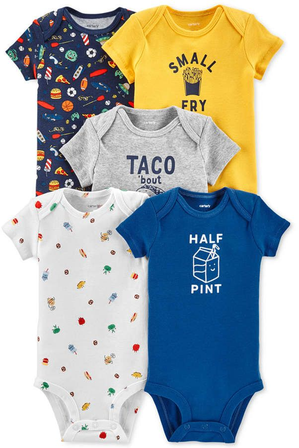 641886468 Baby Boys 5-Pack Printed Cotton Bodysuits | Baby Clothes | Carters ...