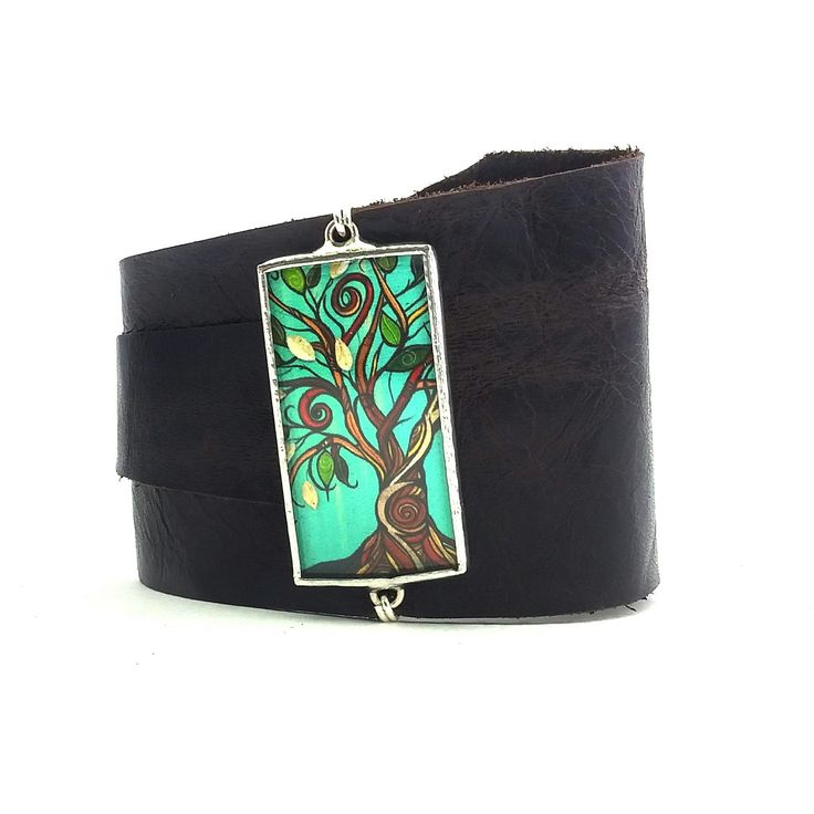 Artist's Series soft leather cuff, just the thing for spring.