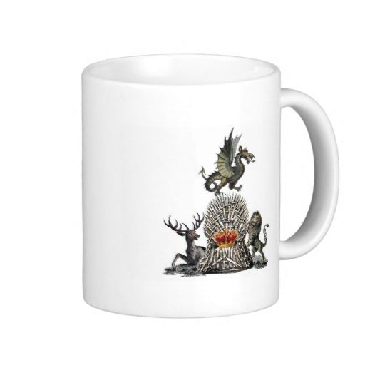 The Dragon, the Stag and the Lion Coffee Mug