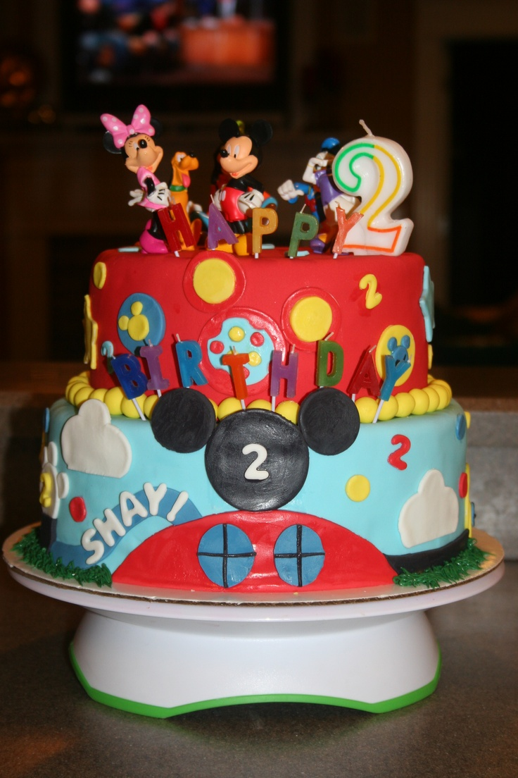 Mickey Mouse Clubhouse Cake    We are doing the Mickey and Minnie Theme for Cam and Riley's birthday party :-)