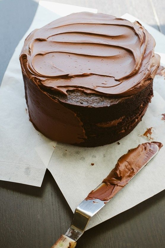 Chocolate Cake with Bittersweet Sour Cream Frosting | Not Without Salt