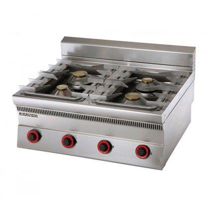Cocina a Gas SLE-8G Mainho de uso profesional. Especial para hostelería. Rejillas de inoxidable matizado de 3 mm de espesor. Bandeja o  batea en acero inox