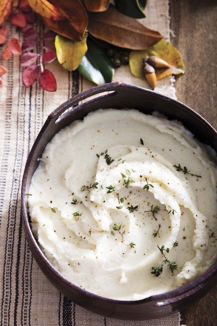 Roasted Garlic Mashed Cauliflower | From the cookbook Danielle Walker's Against all Grain Celebrations, page 237 | PC Erin Kunkel