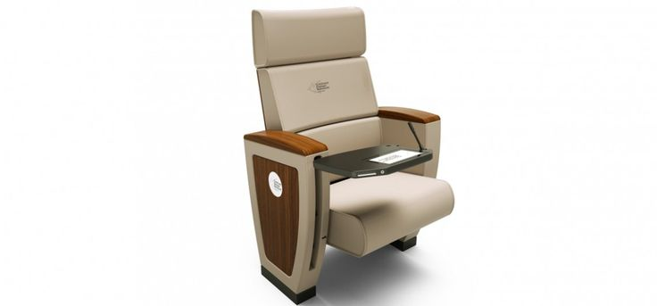 "ARESLINE Discover Royale Imperial armchair with high degree of comfort, equipped with multimedia devices, 9"" touch screen with conference functionalities... #Seatingsystems, #contract and #workplace #furniture. See more at: www.gilusi.com"