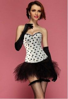 Polka Dot Corset With Black Tutu Skirt