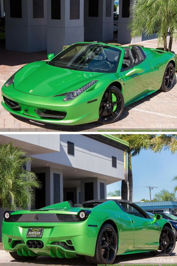 Someone paid 27k to have his ferrari 488 spider painted this shade of green