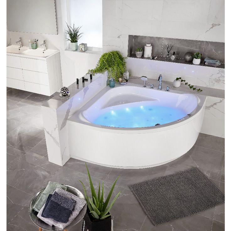 Baignoire balnéo d'angle modèle LAGUNE système Perle - Salle de bains