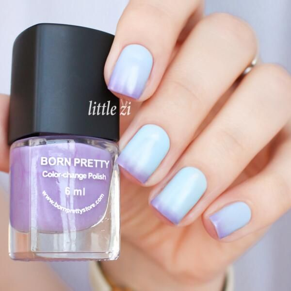 $2.99 1 Bottle 6ml Thermal Nail Polish Color Changing Polish Peel Off Polish Black to Grey - BornPrettyStore.com