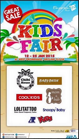 KIDS FAIR, Get super sale for your kids style and fashion Periode 12 – 25 Januari 2015