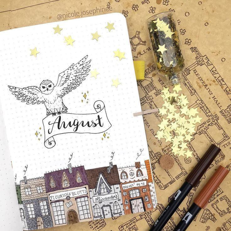 Part 2: 80+ Magical Harry Potter Bullet Journal la…