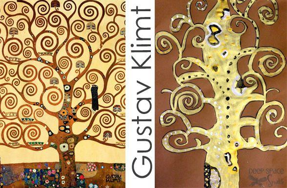 Gustav Klimt's Tree fo Life Art Lesson by DSS