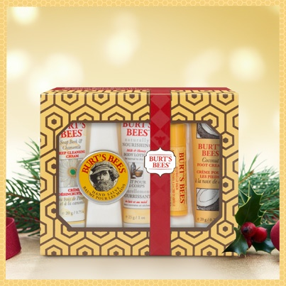 What are your essentials for this time of year? Ours are friends, family and bringing back the natural joys of the holidays. Show every loved one how much they mean to you by introducing them to a natural method of skin care with our Essential Burt's Bees Kit! Available at your local Burt's Bees retailer for $9.99.