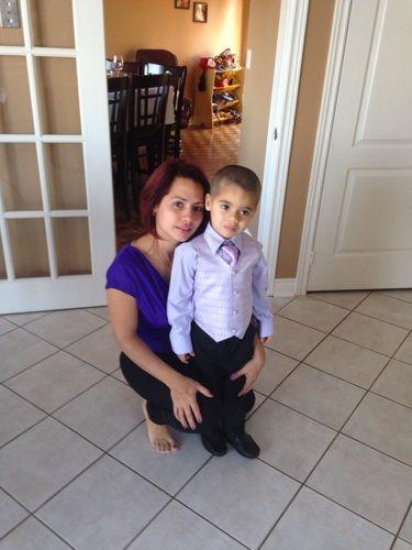 mi hija y mi nieto