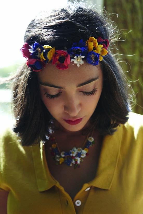 Des couronnes de fleurs Coiffure couronne de fleurs
