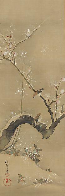 December - Sakai Hōitsu (1761-1828) - Birds and Flowers of the Twelve Months