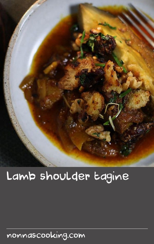 """Lamb shoulder tagine 
