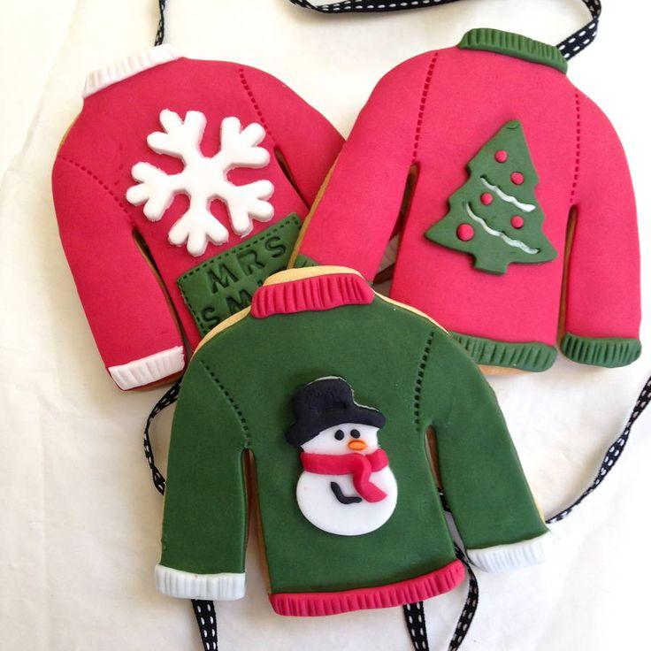 Christmas Jumper Cookies by Nila Holden on notonthehighstreet.com