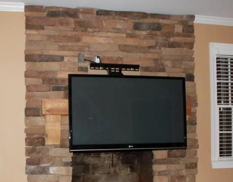 10 best images about mounted tv on pinterest wall mount - Tv wall mount over fireplace ...