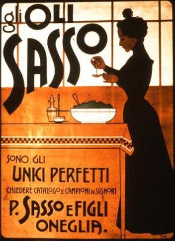 Vintage Italian Posters ~ #Italian #vintage #posters ~ Olio Sasso, Oneglia - Imperia, Liguria