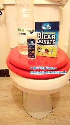 sel bicarbonate de soude vinaigre pour détartrer les toilettes