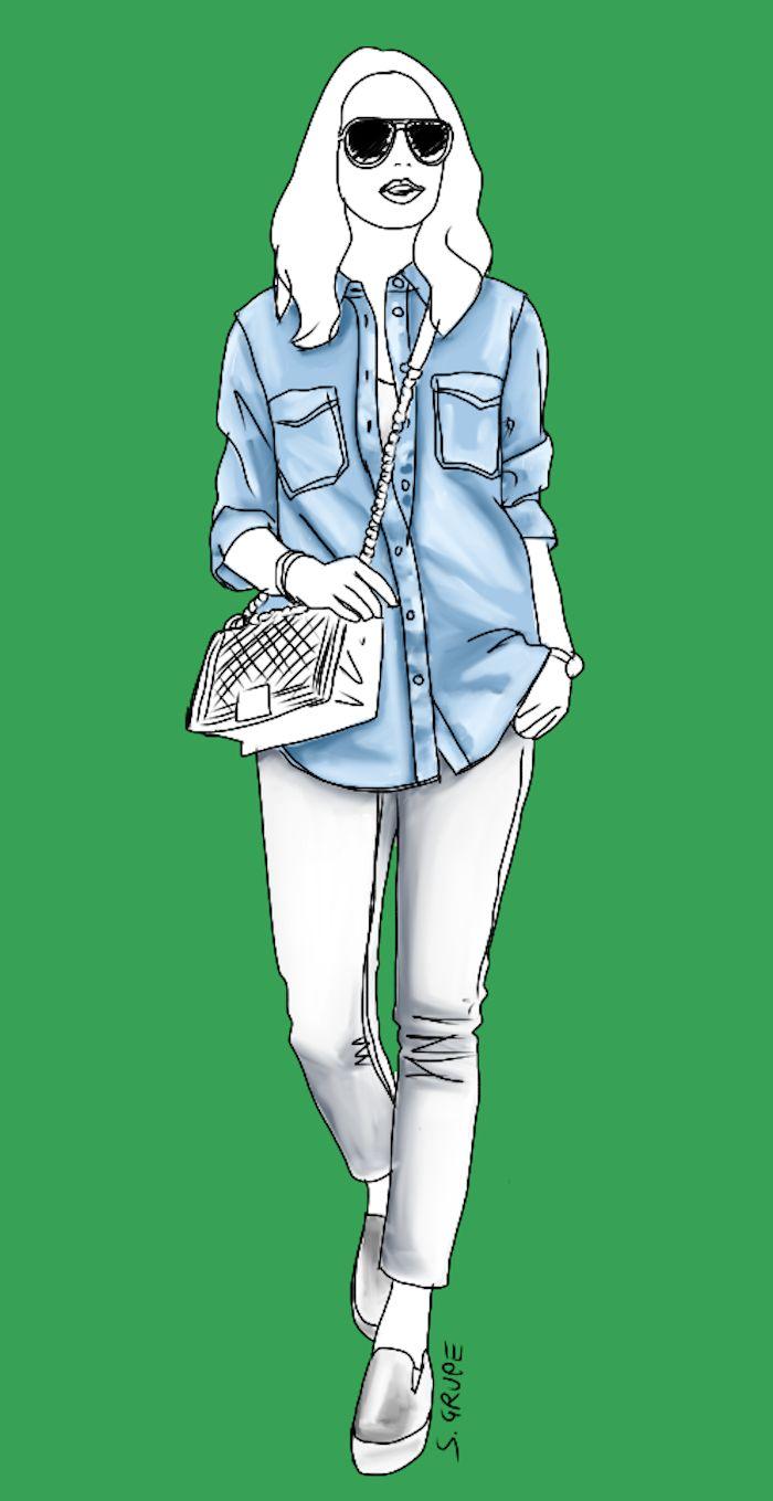 30 Stil-Tipps, wie Sie ein Jeanshemd kombinieren | Die Modeflüsterin | Bloglovin'