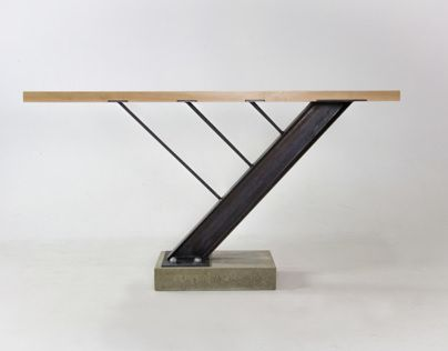A Custom Table Made Of Maple, Steel, And Concrete. Donated To Montana State  University For The Celebration Of Architecture Berkas, Zach George, ...