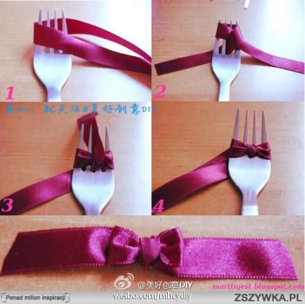 Faire un nœud avec une fourchette