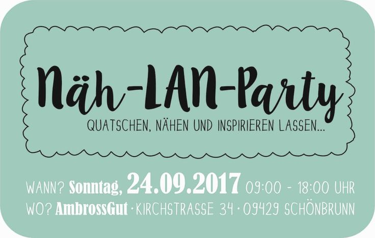Näh-Lan-Party im Erzgebirge am 24.09.2017