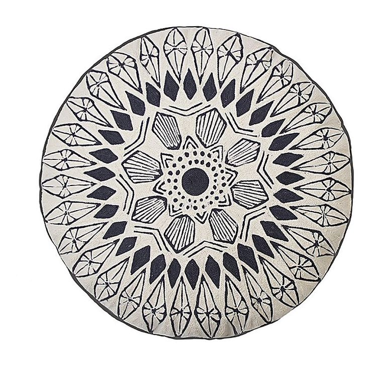 Spark a tribal scene in your living room style with the handmade quality of the Gypsy Round Cushion from Bambury.