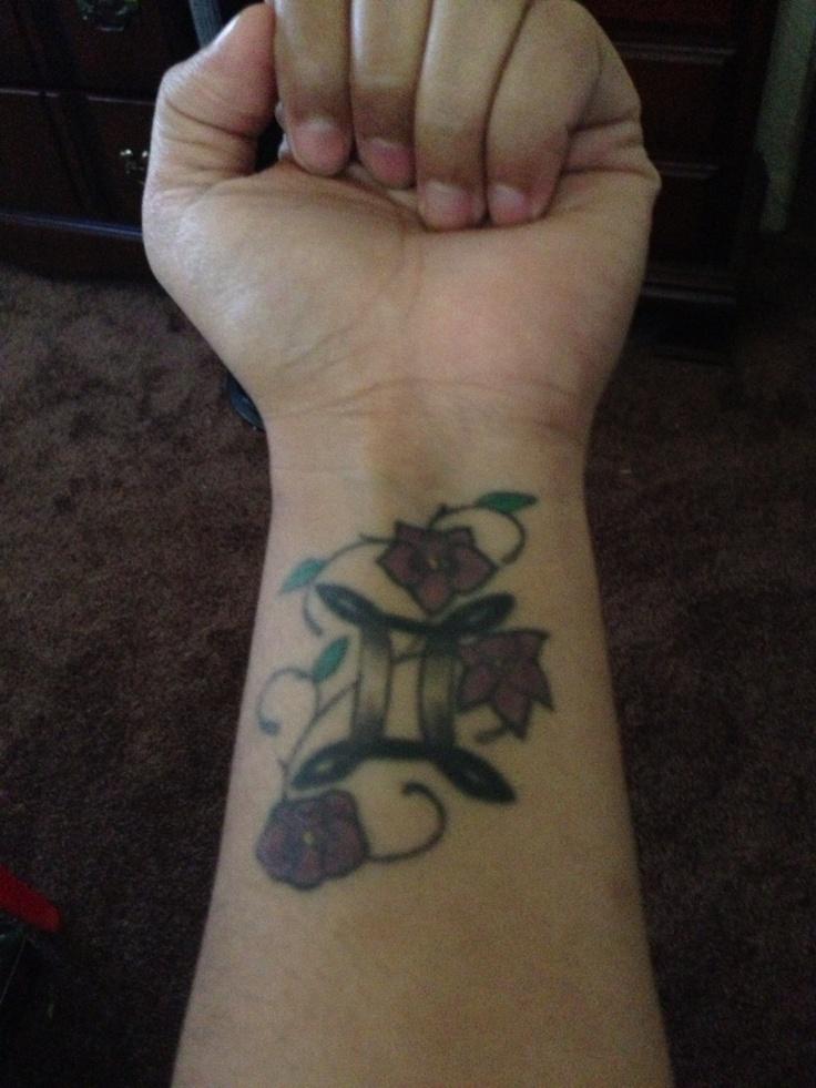 gemini on wrist tattoos