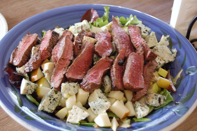 Whole Foods on a Budget: Saturday Salads | Blue cheese, Steak + Pear: Pears Salad, Superfood Salad, Whole Foods, Pear Salad, Blue Cheese Steaks, Saturday Salad, Blue Chee Steaks, Favorite Recipes, Bleu Steaks