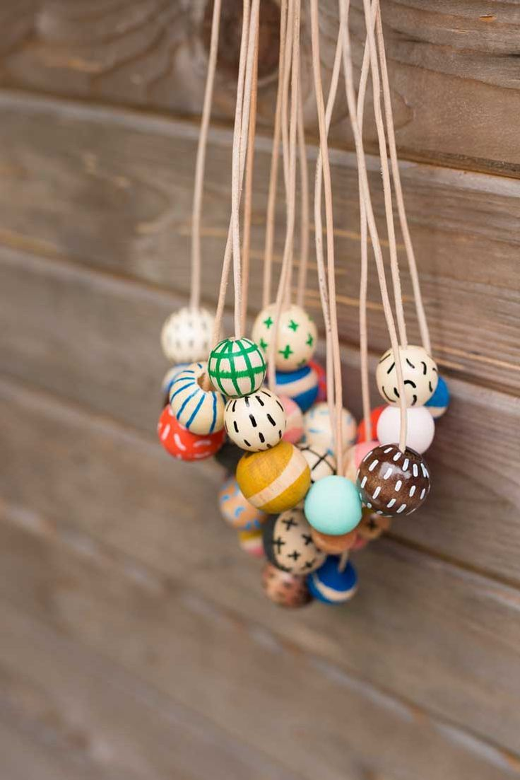 DIY painted beads