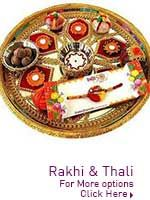 Rakhi Thali  http://www.lovenwishes.com/rakhi_thali.htm