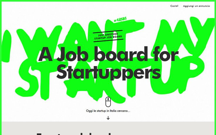 Green Job Board Website for Startupers: I Want My Startup #website #design