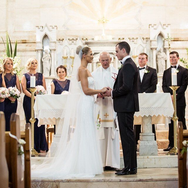 A beautiful and traditional ceremony  #gmphotographics #celebrityweddingphotographer #masterphotographer #canonmasterphotographer #sydneywedding #grahammonro #love #churchwedding #ceremony #marriage