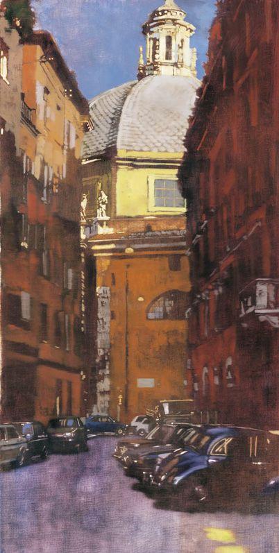Near the Pantheon, Rome, by Bernie Fuchs