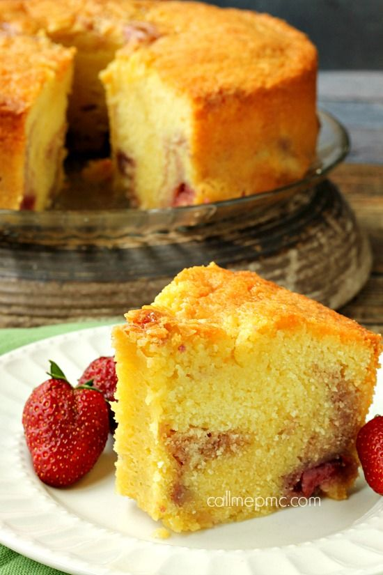 #KatieSheaDesign ♡❤ ❥▶ Strawberry Pound Cake is luscious, velvety, rich and buttery. Easy guide and tips to making the Southern classic Pound Cake from scratch.