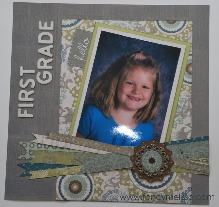 School Picture Scrapbook Layout www.fancymelissa.com #ctmh #avonlea