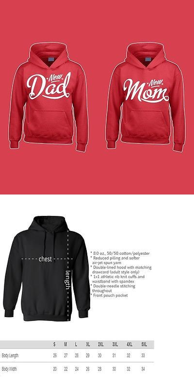 Sweatshirts Hoodies 155194: Matching Hoodie Matching Couples New Mom New Dad Love Cute Sweater -> BUY IT NOW ONLY: $49.99 on eBay!