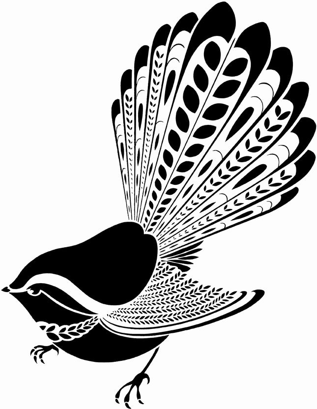 simple maori designs fantail - Google Search